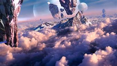 Fantasy Planet Floating Concept Mountain Mountains Artwork