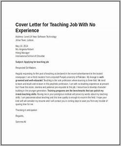 sample cover letter substitute teacher no experience With tutor cover letter no experience