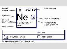 Neon chemical element Britannicacom