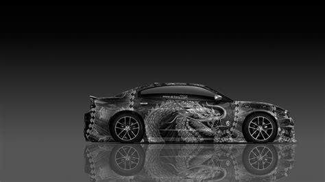 dodge charger rt muscle dragon aerography car  el tony