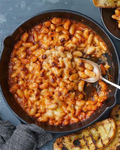 cheesy white bean tomato bake nyt   bean recipes