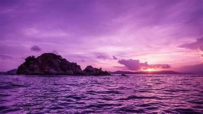 Purple Nature Desktop Sunset Sea Backgrounds Wallpapers
