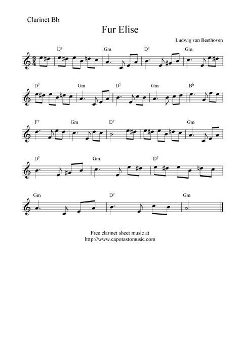Easy piano sheet music for kids: PZ C: clarinet sheet music