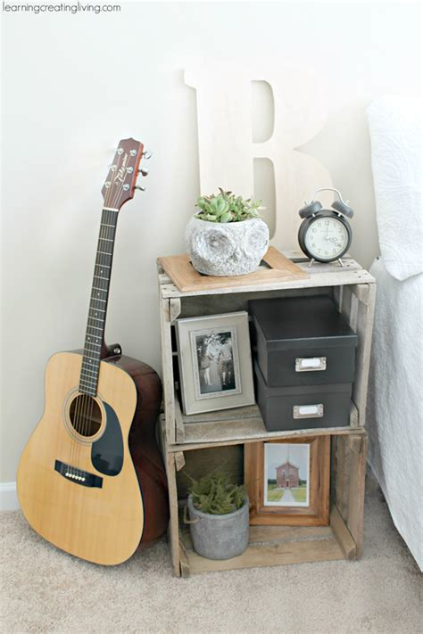Crate Nightstand Diy by 5 Creative And Easy Ways To Make A Nightstand