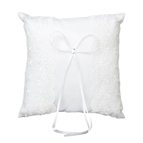 embellished wedding ring pillow cushion 20cmx20cm white in jewelry findings components from
