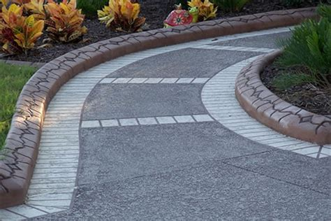decorative curb and concrete decorative concrete edging