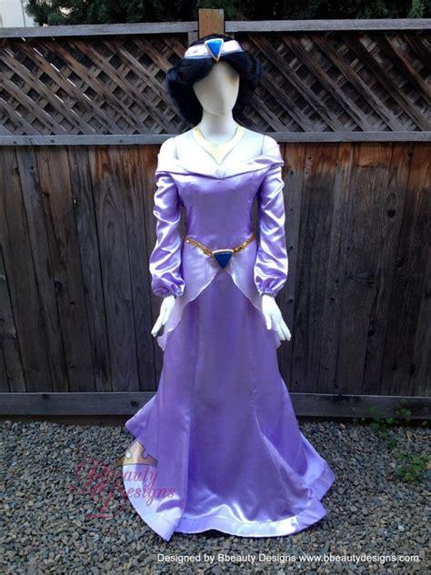 jasmine purple dress costume adult size  headband