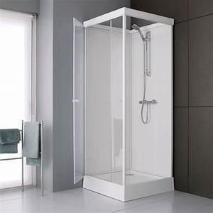 cabine integrale carree corail pompac With porte de douche coulissante avec vente privee mobilier salle de bain