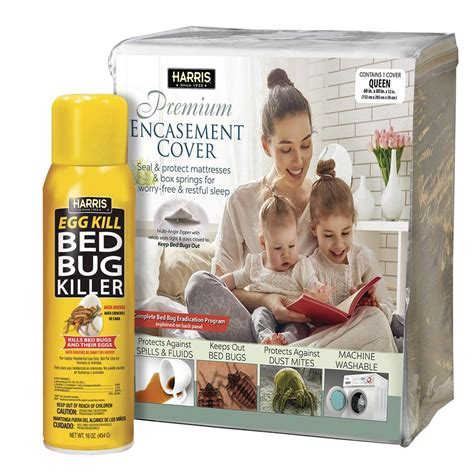 Bed Bug Covers Home Depot by Harris Bed Bug Mattress Cover And Bed Bug Spray