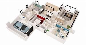 midi 99 m2 3 chambres o maisons de l39atlantique With plan de maisons gratuit 4 maisons cate atlantique constructeur