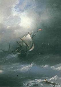 Storm in Arctic Ocean   Aivazovsky   Painting Reproduction ...