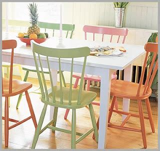 painting kitchen table and chairs different colors painting kitchen table