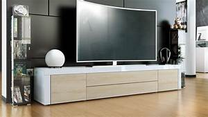 Tv Board Weiß Eiche : tv lowboard board schrank tisch m bel la paz in wei hochglanz naturt ne ebay ~ Bigdaddyawards.com Haus und Dekorationen