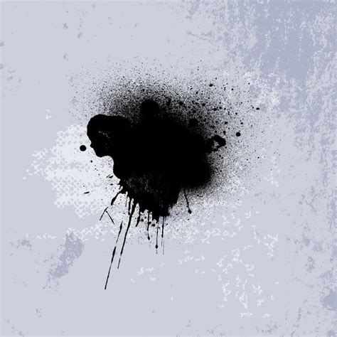 Abstract Black Ink by Abstract Background With A Black Ink Stain Vector Free