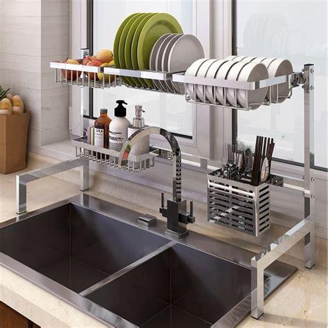 stainless steel dish drainer stainless steel kitchen shelves kitchen rack diy kitchen