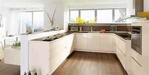 cuisine design blanche sans poignee photo 13 20 avec With cuisine blanche sans poignee