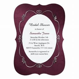 burgundy and silver invitations announcements zazzle With burgundy wedding invitations canada