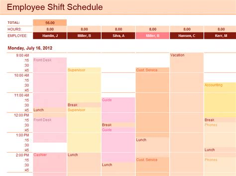 employee shift schedule template employee shift schedule template for excel for microsoft office software its a free