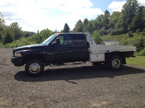 Sell used 2002 DODGE 3500 DIESEL 4x4 QUAD CAB ALUMINUM