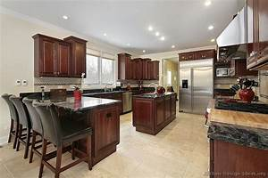 pictures of kitchens traditional dark wood kitchens With kitchen design island or peninsula