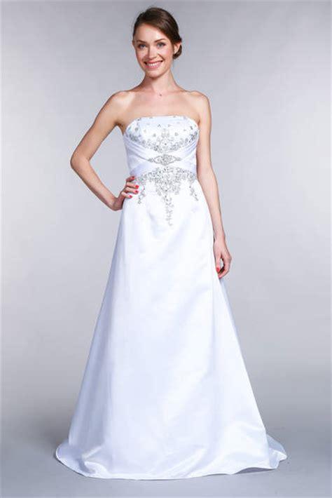 robe bustier en satin perle blanc orgentee du  au
