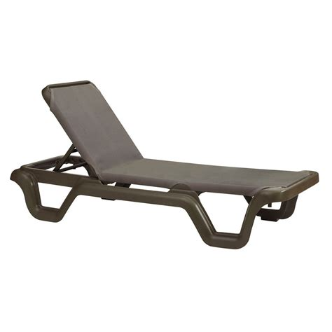 chaise longue grosfillex marina sling chaise lounge chair adjustable by grosfillex