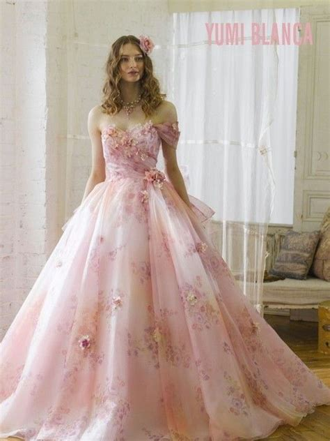 yumi blanca pink floral gown dresses dresses wedding