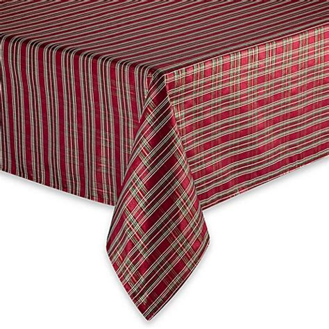 plaid tablecloths christmas plaid tablecloth bed bath beyond