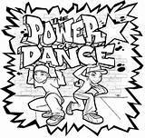 Coloring Dance Hop Hip sketch template