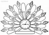 Clock Coloring Pages Printable Alarm Peacock Steampunk Wall Cool2bkids Getdrawings Coloringpagesonly Getcolorings sketch template