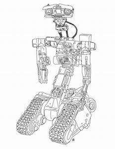 Johnny 5 from short circuit coloring page https www for Shortcircuit2
