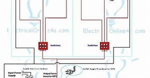 How To Install Ups  U0026 Inverter Wiring In 2 Rooms