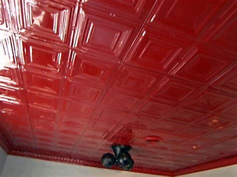 how to install interlocking tin ceiling panels