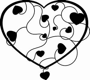Heart Clip Art: Black and White Hearts Clip Art