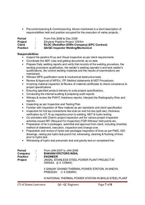 QA/QC Engineer - simon lawrence