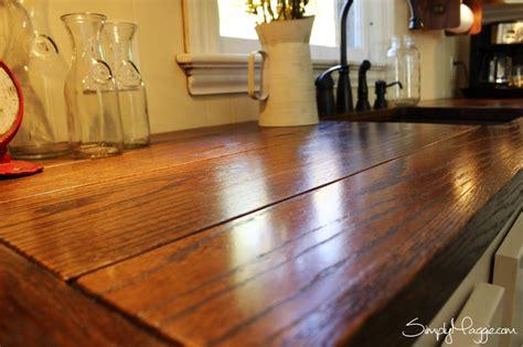 Diy Wide Plank Butcher Block Counter Tops  Simplymaggiecom