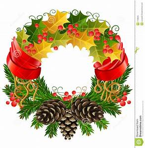 Vector Christmas Wreath Royalty Free Stock Photo - Image ...