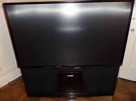 mitsubishi projection tv l mitsubishi 55 quot big screen hd rear projection rear
