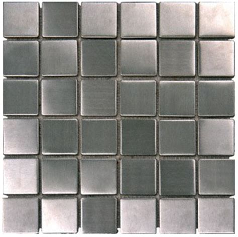 square metal 2x2 quot mosaic stainless steel tile