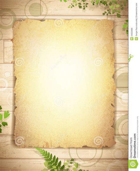 grunge burnt paper  wooden background stock photo