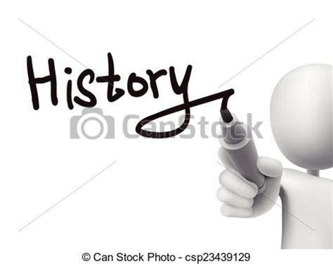 history word written   man  transparent board