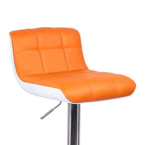 chaise de bar orange photo tabouret de bar orange