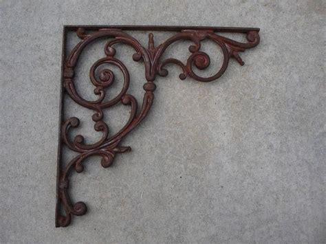 iron shelf 1 large 16 quot antique cast iron mailbox bracket vtg swirls