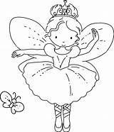 Fairy Coloring Pages Print Butterfly Cute Colouring Princess Cartoon Template Christmas Adult Drawing Ajax Pm Posted sketch template