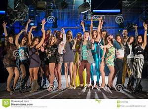 Nineteen Young People Having Fun And Dancing Royalty Free ...