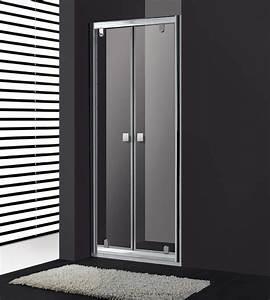Porte de douche battant titan slim avec verre transparent for Porte de douche battant