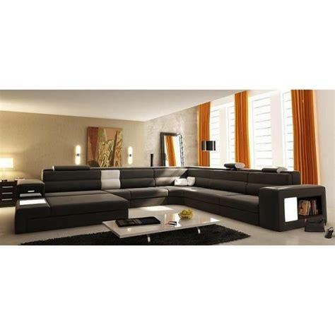 c discount canap canapé panoramique cuir gris angle gauche achat vente