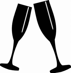 Champagne Glass Black Clip Art at Clker.com - vector clip ...
