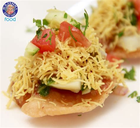 vegetarian canapes easy sev puri indian canape vegetarian fast food recipe