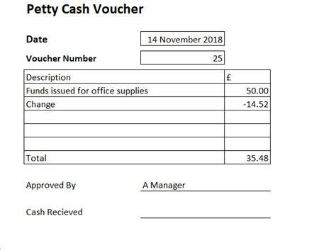 petty cash voucher template excel petty cash voucher